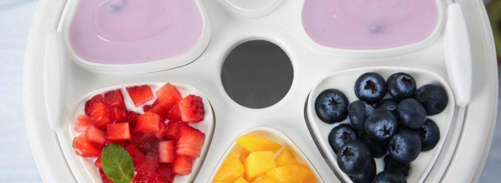 Fabrication de yaourts aux fruits